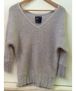 AMERICAN EAGLE womens Acrylic/Wool/Mohair V-Neck Dolman Gray Pullover Sw... - $18.95