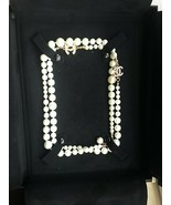 AUTH Pre-Owned Chanel Gold & White Faux Pearl Monogrammed Necklace Box &... - $495.00