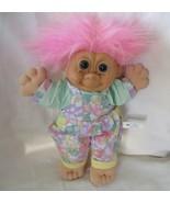 """Russ Troll Kidz Pink Hair & Floral Pantsuit #2409 13"""" - $19.79"""