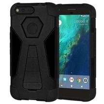 Dual Layer Hybrid KickStand Case for Google Pixel XL - Black/Black - $14.00