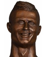 Ronaldo shaped vinyl sticker Bronze Bust 15cm Madeira funny football Cri... - $3.57