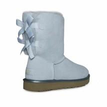 UGG BAILEY BOW II METALLIC SKY BLUE SUEDE SHEEPSKIN SHORT BOOTS SIZE US ... - $154.99
