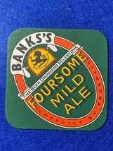 BEER MAT COASTER - TWO SIDED -  BANKS  FOURSOME MILD ALE DRIVING BAND (F... - $5.49