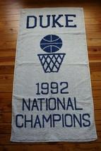 NWT Duke University 1992 National Basketball Champions Fieldcrest Cannon Towel - $109.25