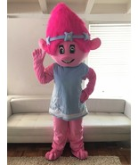 Troll Poppy Mascot Costume Adult Halloween BIRTHDAY Movie Girl Party Pin... - $197.03