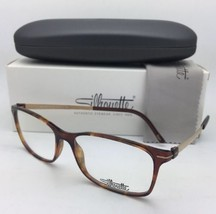 New SILHOUETTE Eyeglasses SPX 2905 75 6120 53-15 135 Matte Gold & Tortoi... - $299.95