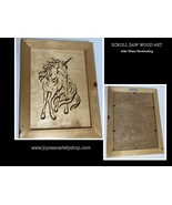 "Scroll Saw Art Mike Wilson Woodwork Unicorn 9"" x 12"" Framed - $21.99"