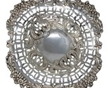 1904 Antique Edwardian Era Sterling Silver Pierced Bon Bon Dish Silversmith Will