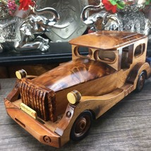 Hand carved thuya burl wooden classic collectible car miniatur 24x11x8 cm - $95.00