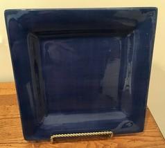 "Tabletops Unlimited Espana RARE Cobalt Blue 10 3/8"" Square Dinner Plate - $32.71"