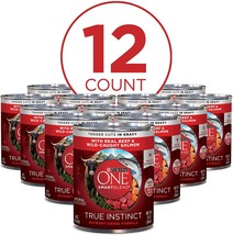 Purina ONE SmartBlend True Instinct Adult Canned Wet Dog Food, 13 Ounces... - $30.00