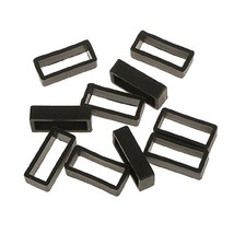 10 PIECES SIZE 22MM BLACK RUBBER REPLACEMENT WATCH BAND STRAP LOOPS Hoop... - $11.99