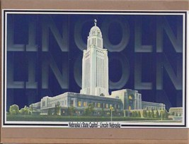 Lincoln Nebraska Capitol Greeting Card with Envelope - $4.00