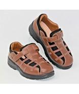 Dr Comfort Size 6XW Betty Women's Brown Leather Strap Diabetic Walking S... - $47.49