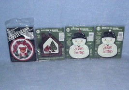 3 Stitch & Hang 1 Make it Snappy Ornament Counted Cross Stitch Kits with... - $6.99