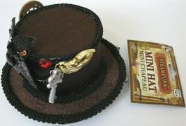 Steampunk Elegant Mini Top Hat Victorian Cocktail Costume Accessory CLIP-ON Nwt - $14.84