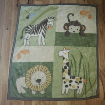 CoCaLo Baby NALI Jungle Animal Plush Blanket Comforter Monkey Giraffe Lion Zebra - $79.19