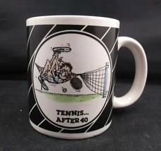 RARE Enesco Imports Ceramic Coffee/Tea Mug Tennis After 40 Over The Hill 1987  - $5.94