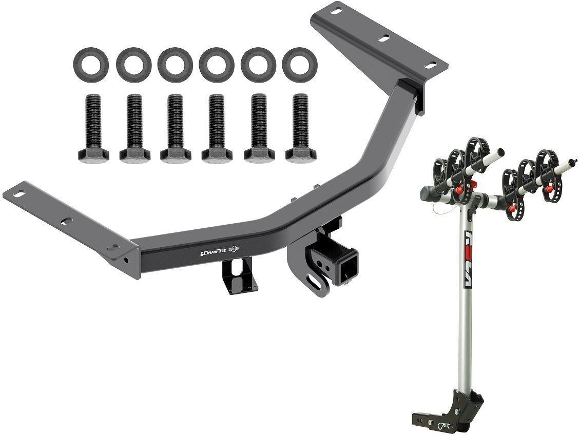 2014-2017 acura mdx  u0026 16-17 honda pilot trailer hitch   rola 3-bike rack carrier