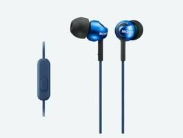Sony MDR-EX110AP In-ear Headphones, Blue - $9.90