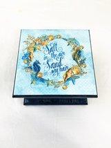 Nautical Blue Sea Horse Storage Keepsake Box - $27.44