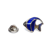 tropical fish Design  / tie pin,lapel pin, badge in gift box, cards, tieclip,