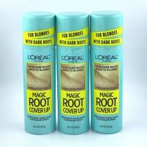 3 Pk / L'Oreal Paris Magic Dark Root Temporary Cover Up Spray / Medium Blonde - $24.58