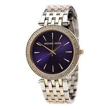 Michael Kors MK3353 Darci NEW Women Silver Rose Gold Ritz Quartz MK Wris... - $123.90