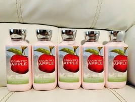 5 Bath Body Works Womens Country Apple Vitamin E Shea Body Lotion Full Size - $33.26
