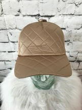 Mossimo Unisex One Sz Hat Shiny Gold Satin-Feel Quilted Adjustable Ball Cap - $19.79
