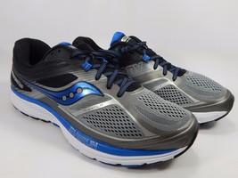 Saucony Guide 10 Men's Running Shoes Size US 12.5 2E WIDE EU 48 Silver S20351-1