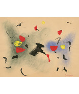 Luigi Montanarini (1906-1998) - Signed Mid 20th Century Tempera, Abstract V - $459.30
