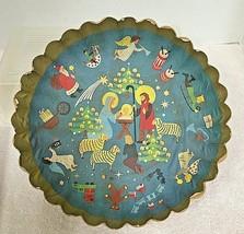 Vintage Christmas Pressed Molded Paper Bowl Nativity Scene Plus Various ... - $14.36