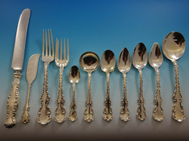 Louis XV by Whiting Sterling Silver Flatware Set For 8 Service 90 Pieces - $5,500.00