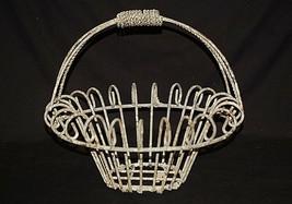 Old Vintage Primitive Egg Basket or Planter Heavy Metal Country Farm Hou... - $49.49