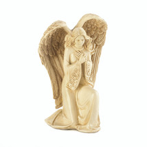 Praying Angel Figurine, Small Garden Kneeling Angel Statues And Figurines - $28.93
