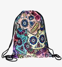 Sugar Skull Drawstring Bag - $16.99