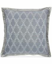 Croscill Seren Chenille Danask Jacquard Pillow Sham - EURO - Blue / Silver - $29.69