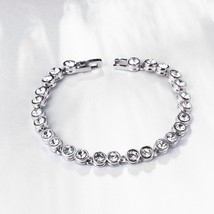 "Menton Ezil Women Unique Elegant Jewelry ""Princess"" Swarovski Bangle Bra... - $12.73"