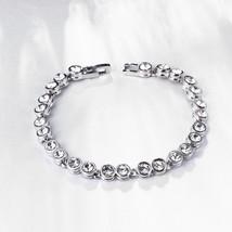 "Menton Ezil Women Unique Elegant Jewelry ""Princess"" Swarovski Bangle Bracelets - $12.73"