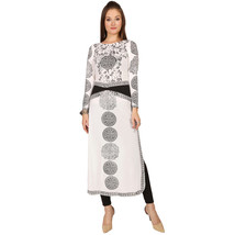 Ira Soleil white black polyester knitted strechable printed long sleeve ... - $49.99