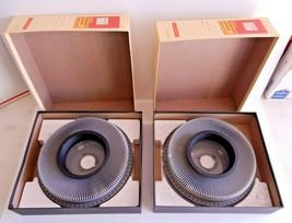 Lot 2 Kodak Ektagraphic Universal Slide Tray Model 2 Tray w/ box 35mm 140 Slide - $15.67