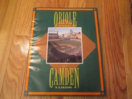 1992 Baltimore Orioles Camden yards Game Program MLB Baseball - $8.99