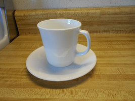corning ware corelle mugs and saucers winter frost white livingware - $4.70