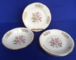 4 Homer Laughlin Queen Esther Pieces Saucers Berry Bowl Plate Liberty Sh... - $7.87