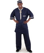 African dashiki navy mens pant suit thumbtall
