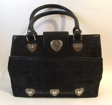 Purse black heart fabric leather  1  45  4.50 thumb200