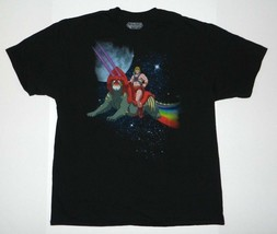 New Master of the Universe rainbow space battle cat t-shirt he-man  - $14.99