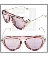 GUCCI 3737 Ruthenium Translucent Pink Sunglasses GG3737S Aviator Blinker... - $264.33