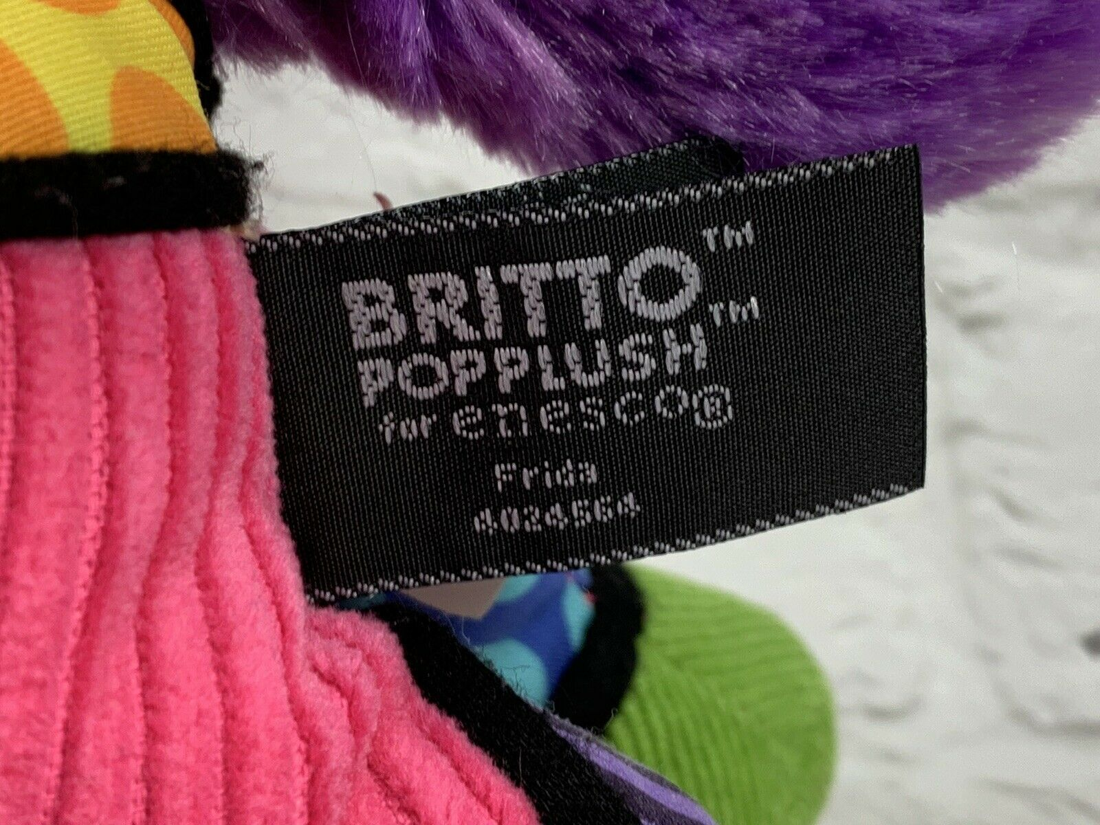"BRITTO POPPLUSH Pink Corduroy POP ART Frida the HORSE Plush Stuffed Animal 11"" image 2"